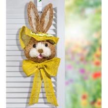 """Dekorácia na dvere """"Zajac"""", žltá"""