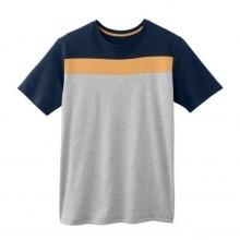 Pyžamové pruhované tričko s krátkymi rukávmi