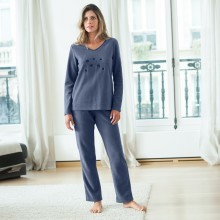 Fleecové pyžamo s výšivkou