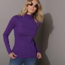 Jednofarebné tričko s rolákom a dlhými dukávmi