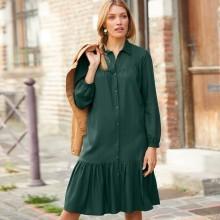 Košeľové jednofarebné šaty