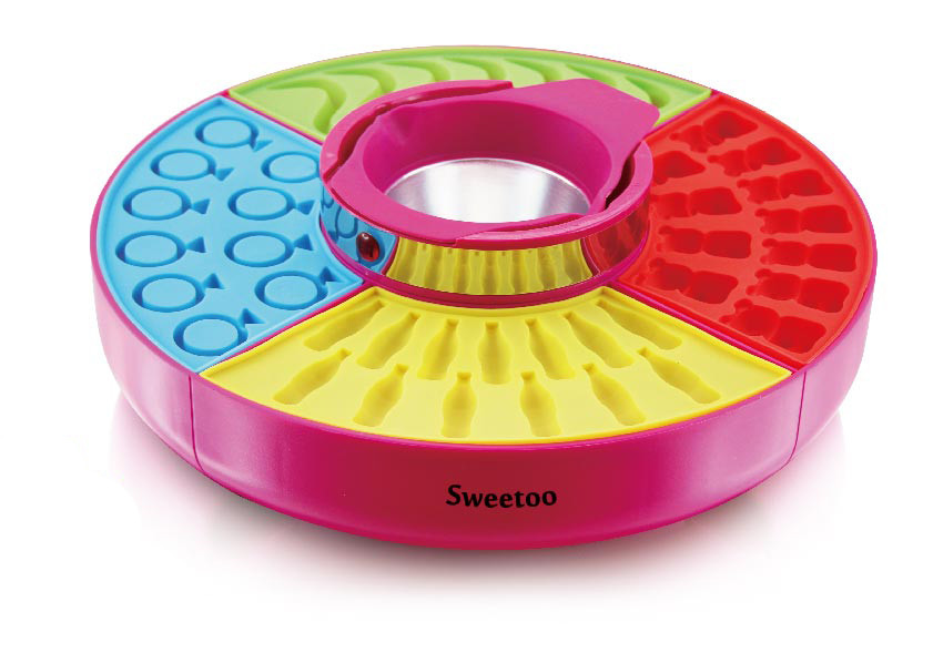 Maszyna do żelków SWEETOO - srebny/niebieski/żółty/zielony - Rozmiar 240ml