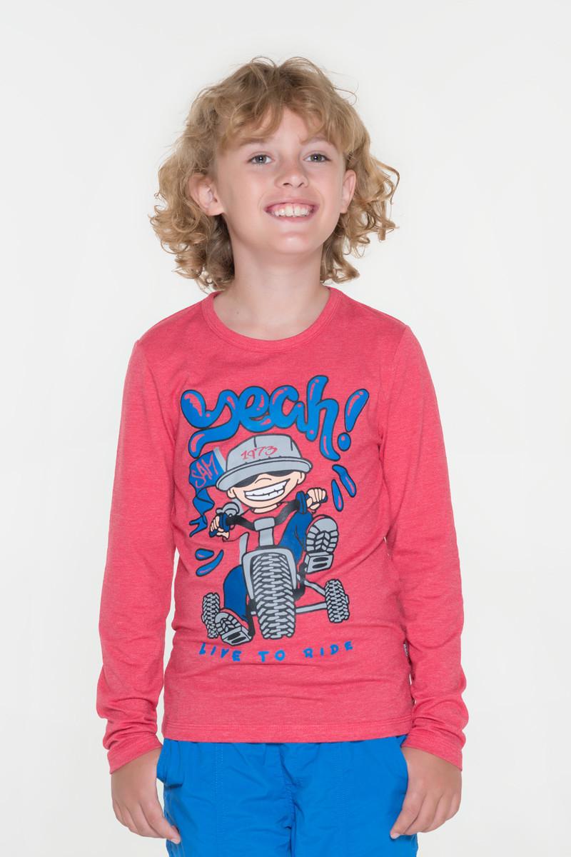 Levně Chlapecké triko s potiskem Sam 73 červená 152