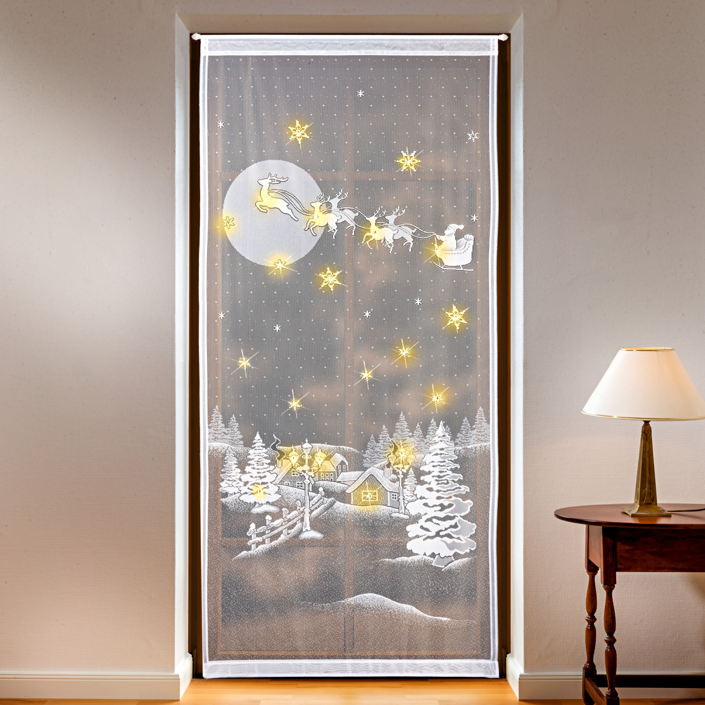 Podświetlana zasłona na drzwi