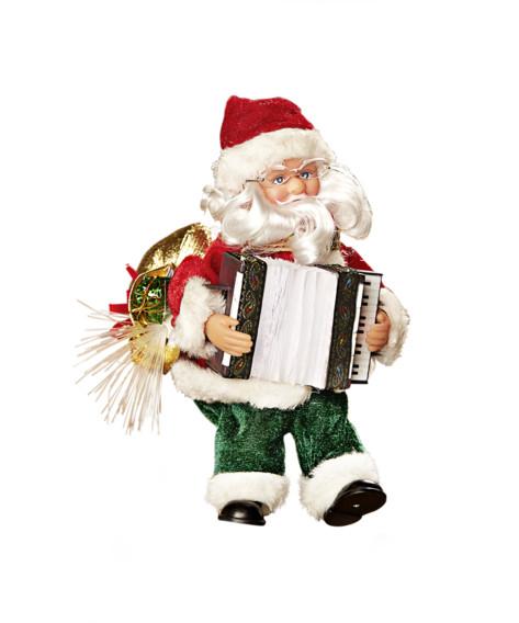 Święty Mikołaj z akordeonem