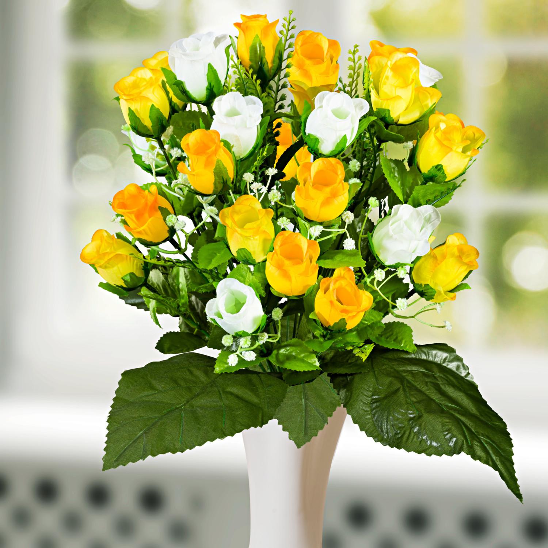 Bukiet róż - żółty-biały