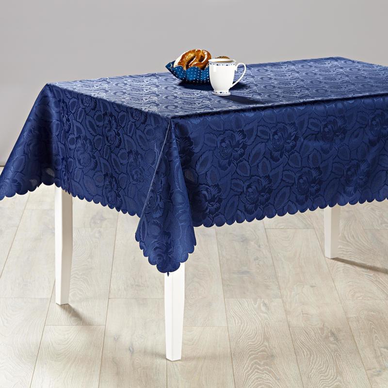 Obrus Jacquard - niebieski - Rozmiar 130x160cm