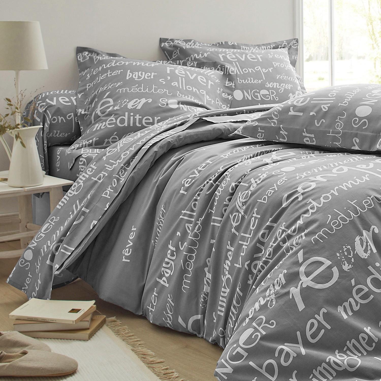 Levně Povlečení R?ver, polyester-bavlna šedá povlak na váleček 85x185cm