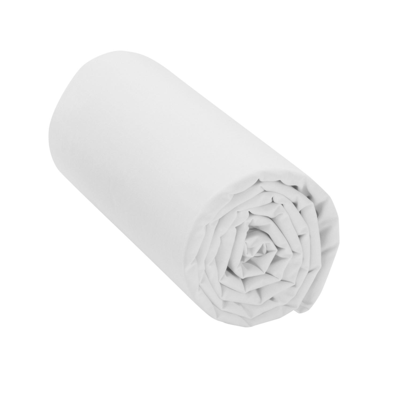 Levně Jednobarevné napínací prostěradlo Sanfor bílá napínací prostěradlo 160x200cm