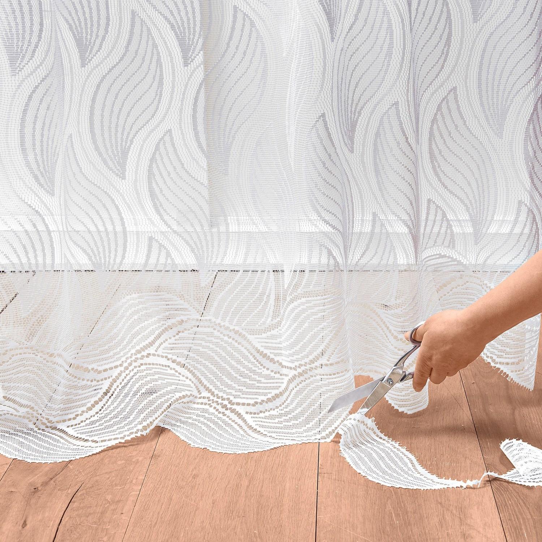 Levně Upravitelná záclona z krajky bílá 175x240cm